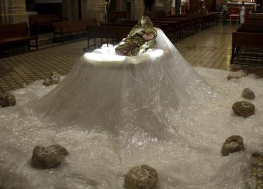 El Llit de la Mare de Déu puede verse en Sant Gaietà.