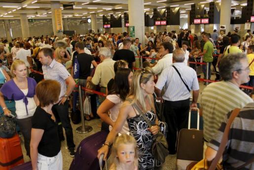 Imagen tomada el pasado 2 de julio en la terminal de salidas del aeropuerto mallorquín.