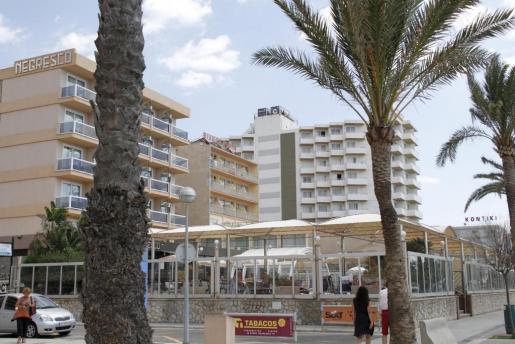 La Platja de Palma, por ser la zona con más hoteles, es la que está más afectada.