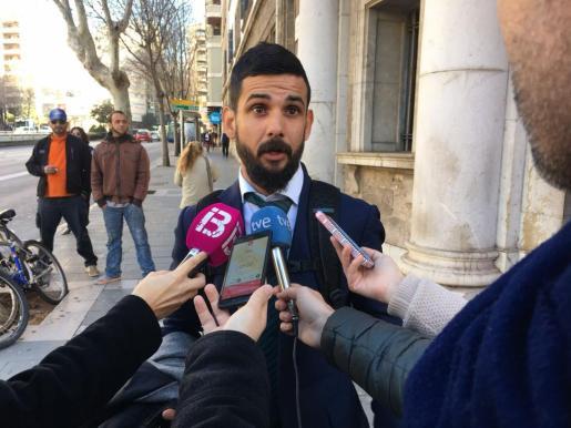 Vicente Campaner, este jueves antes de declarar ante el juez.