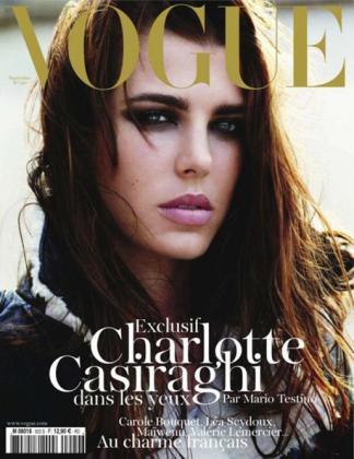 Carlota Casiraghi ha posado por primera vez para la portada de una revista, en este caso, Vogue.