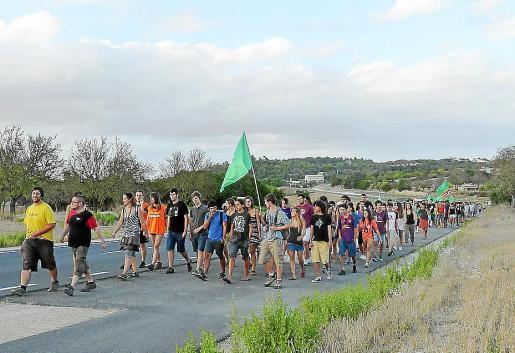 La caminata se desarrolló entre los municipios de Sant Joan y Montuïri.