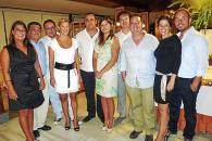 Bernat Queglas celebra su onomástica con una cena entre amigos