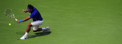 El tenista español Rafael Nadal en el partido contra el argentino David Nalbandian.