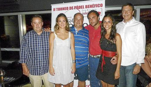 Antonio Villanueva, Sara García, Tomás Vela, Àlvaro de Yturriaga, Estefanía Pérez y Antoni Cañellas.