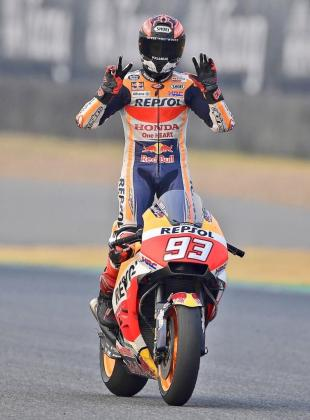 """""""No hay mejor manera de celebrar los 25 ???? que encima de la moto. Muchas gracias por las felicitaciones"""", ha compartido Márquez en sus redes sociales."""