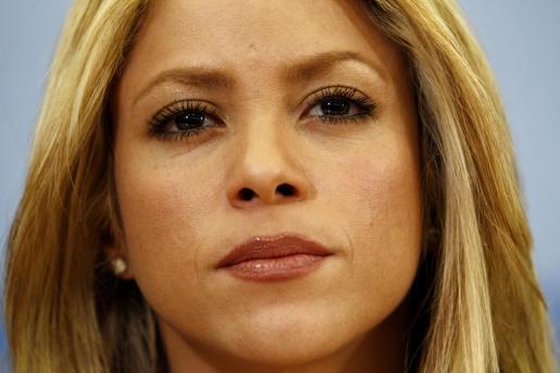 Shakira, durante la entrevista.