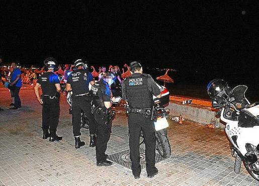 Imagen de archivo de la Policía Local en la Platja de Palma.
