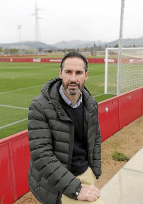 Vicente Moreno, este miércoles en Son Bibiloni.
