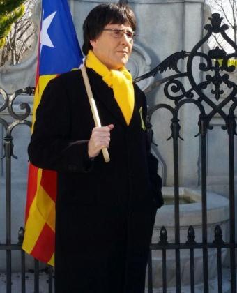 El humorista Joaquín Reyes caracterizado como Carles Puigdemont.