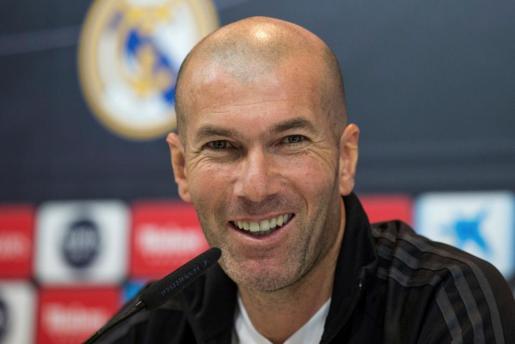 El entrenador del Real Madrid, durante la rueda de prensa tras el entrenamiento del equipo blanco en la Ciudad del Fútbol de Valdebebas.