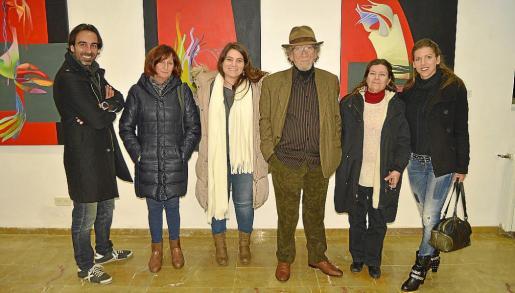 Jordi Alvaro, Julia Tellez, Estefanía Téllez, Augusto Banegas, Mauri Trujillo y Alba Banegas.