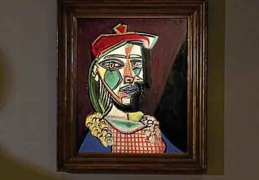 La obra 'Femme au béret et à la robe quadrillée (Marie-Thérèse Walter)' ('Mujer con boina y vestido de cuadros', 1937), de Pablo Picasso.