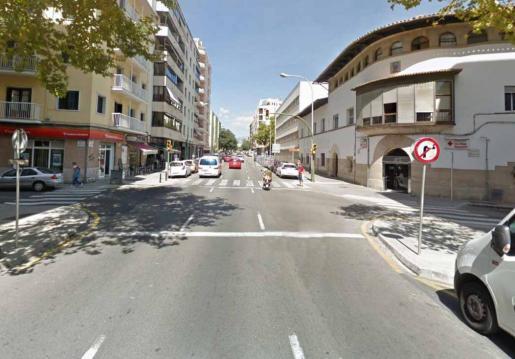 Imagen de la zona donde fue interceptado el secuestrador junto a la víctima cuando se dirigían a un cajero para sacar dinero.