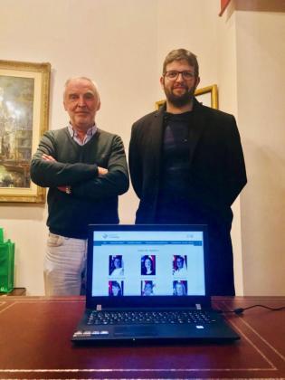 El alcalde Gori Estarellas y el regidor Miquel Àngel Serra presentaron el nuevo portal.