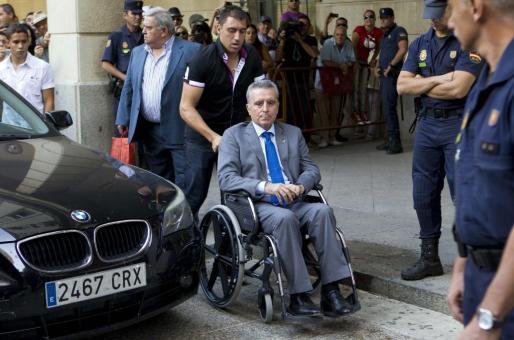 El torero José Ortega Cano, el pasado viernes tras declarar como imputado.