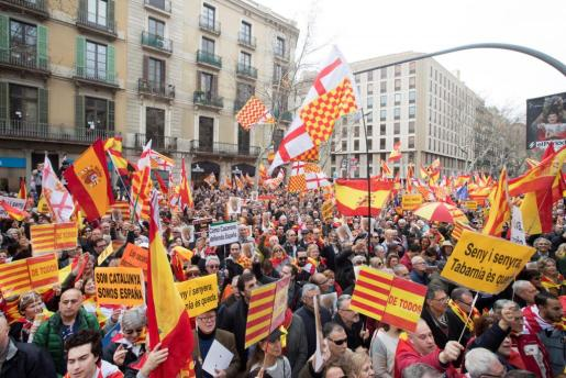 La Plataforma por Tabarnia se ha movilizado en Barcelona.