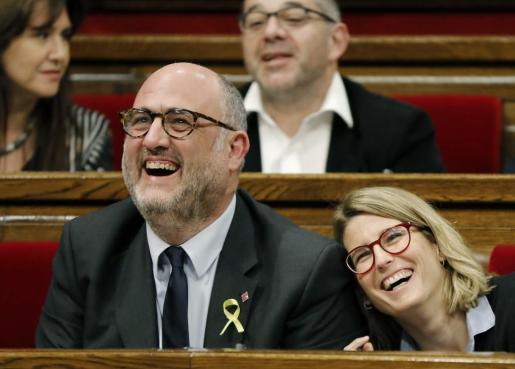La portavoz de Junts per Catalunya Elsa Artadi, durante el pleno del Parlament de Cataluña de la pasada semana.
