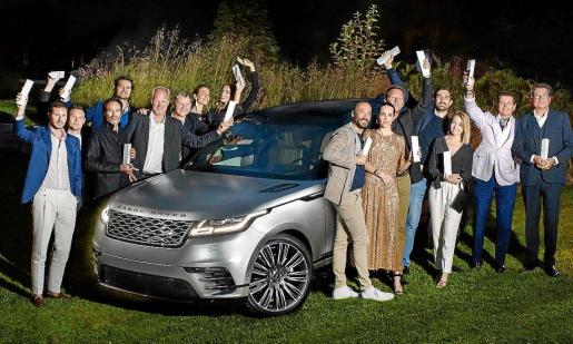 Land Rover BORN Awards 2017 winners with the Range Rover Velar.