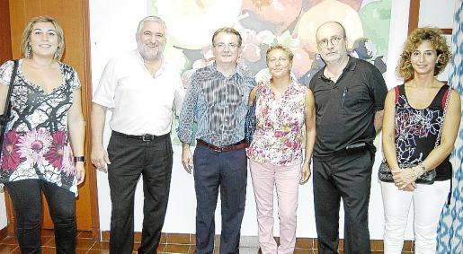 Pepi González, Bernat Coll, Joan Rotger, María Ramón, Pere J. Lorente y María Alemany.