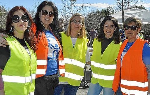 Verónica Gutiérrez, Elisabeth Ruiz, Julia Capellà, Patricia Márquez y Amadori Jiménez.
