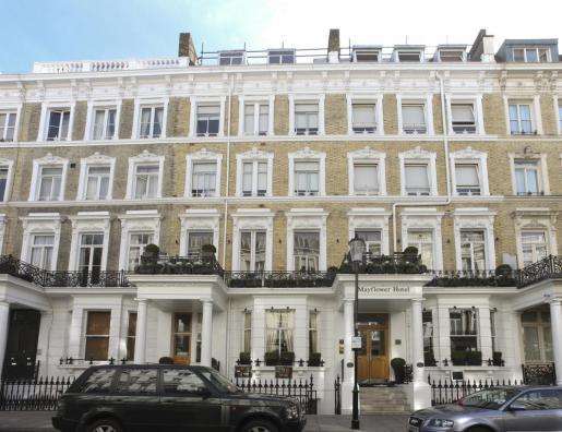 Imagen de la fachada del hotel Mayflower, en Kensington.