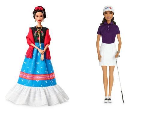 Frida Kahlo y la golfista mexicana Lorena Ochoa inspiran dos nuevas Barbies.