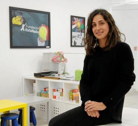 María Francisca Perelló, en una de las aulas del centro de la Fundación Rafa Nadal, de Palma.