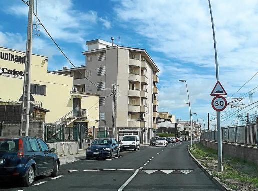 En la carretera de Lloseta se han instalado reductores.