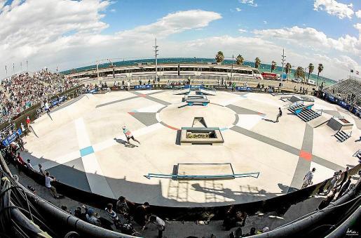 Imagen del 'skatepark' de Badalona en el que se inspiró el proyecto de Calvià.