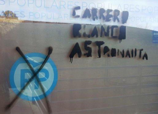 La sede del PP de Ávila ha sufrido la madrugada de este jueves actos vandálicos.