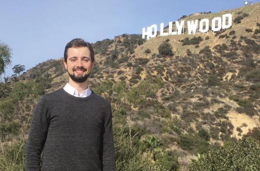El mallorquín Antoni Mairata lleva en Los Ángeles desde julio, cuando empezó el máster de música para cine en la Universidad del Sur de California.