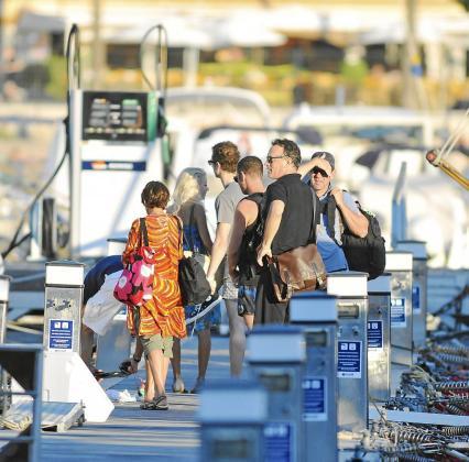 Tom Hanks, a su llegada al Port de Sóller.