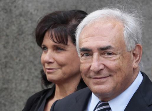 Dominique Strauss Kahn y Anne Sinclair, en una imagen de archivo.