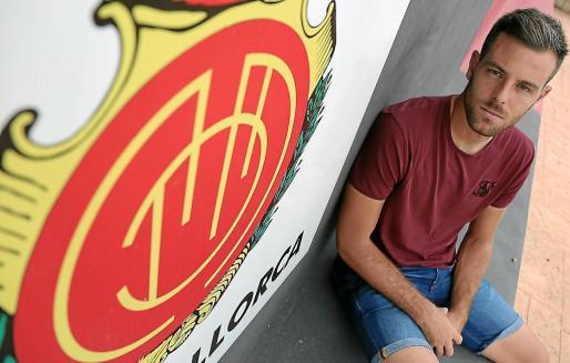 Àlex López, delantero del Mallorca, en una imagen captada en la ciudad deportiva Antonio Asensio.