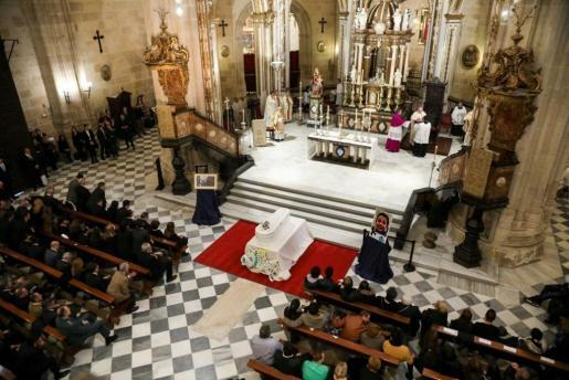 Imagen cedida por el obispado de Almería, del funeral por Gabriel Cruz.