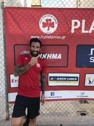 El jugador de Esporlas en una foto cuando militaba en el Platanias.