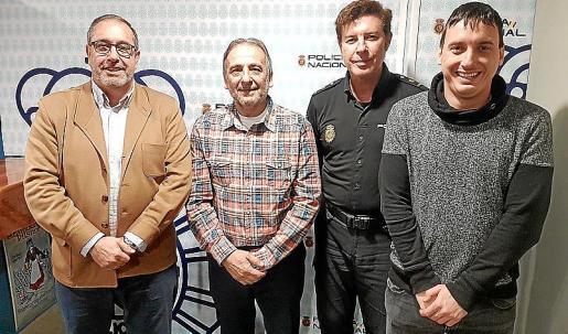 Antonio Jarabo, Rubén Fernández, José Vicente y Paulino Buchens.