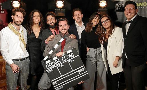 Edu Carayol, Candela Forcades, Sebastià Moragues, Toni Frau, Joan Maura, Virginia Galán, Marga Fullana y Juan Carlos Pina.