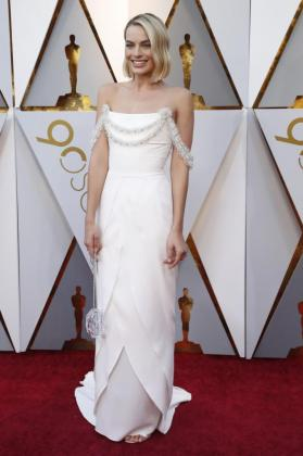La actriz Margot Robbie durante la 90 edición de la ceremonia de los Oscar.