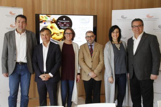 Presentación de la I muestra gastronómica Mallorca Degusta, una feria culinaria que se celebrará del 16 al 18 de marzo en el Palacio de Congresos.