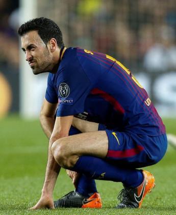 El centrocampista del FC Barcelona Sergio Busquets acabó lesionado el partido de vuelta de los octavos de final de la Liga de Campeones ante el Chelsea.