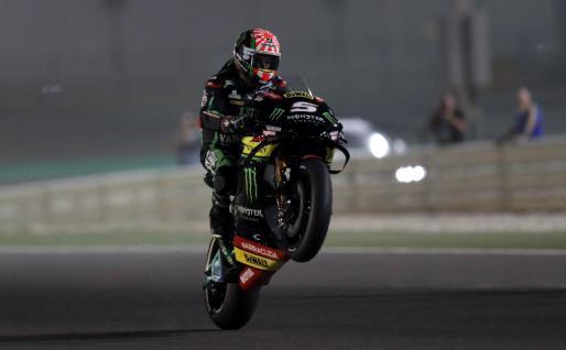 El francés Johann Zarco, durante la sesión de clasificación del Gran Premio de Catar de MotoGP.