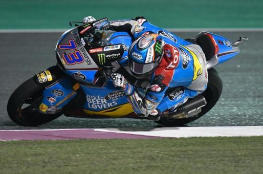EPA9211. DOHA (CATAR), 16/03/2018.- El piloto espñaol del equipo EG 0,0 Marc VDS de Moto2, Alex Márquez, en acción durante los entrenamientos libres en el Circuito Internacional de Losail, en Doha, Catar, el 16 de marzo del 2018. EFE/Noushad Thekkail Gran Premio de Motociclismo de Catar 2018