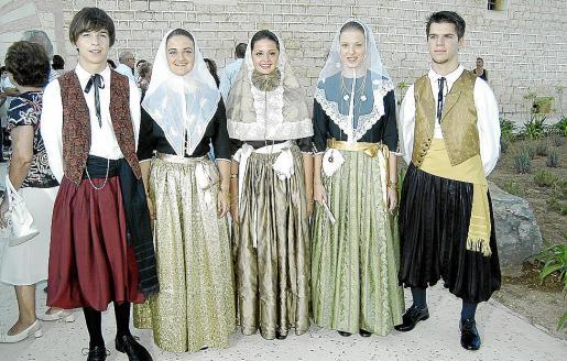 Los vermadores de este año: Francesc Torrens, Joana Mª Vicens, Xisca Morey, Catalina Mª Mascaró y Pedro Moyà.