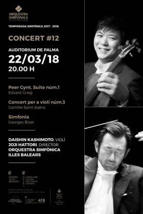 La Orquestra Simfònica de les Illes Balears ofrece en el Auditórium de Palma su dudécimo concierto de temporada.
