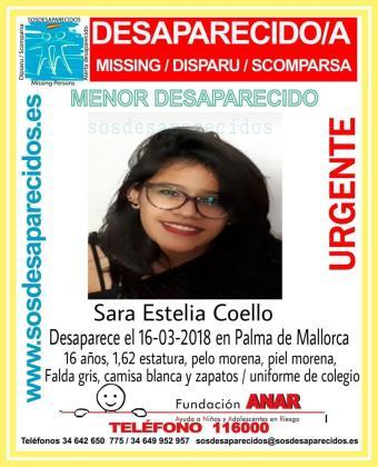 Una niña de 16 años se encuentra desaparecida en Palma desde el pasado 16 de marzo.