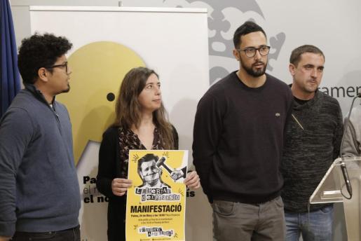 Molina y Truyol hicieron este lunes un llamamiento a la movilización para dar apoyo a Valtonyc.