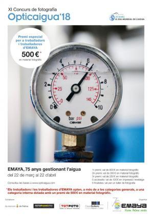 Cartel del concurso de fotografía 'Opticaigua', organizado por EMAYA.