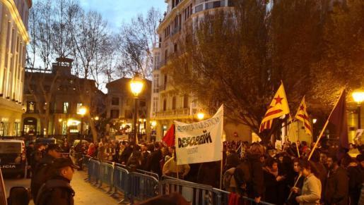 Momento de la manifestación en Palma.